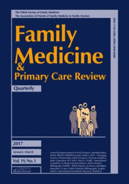 Zeszyt 1/2017 Family Medicine & Primary Care Review